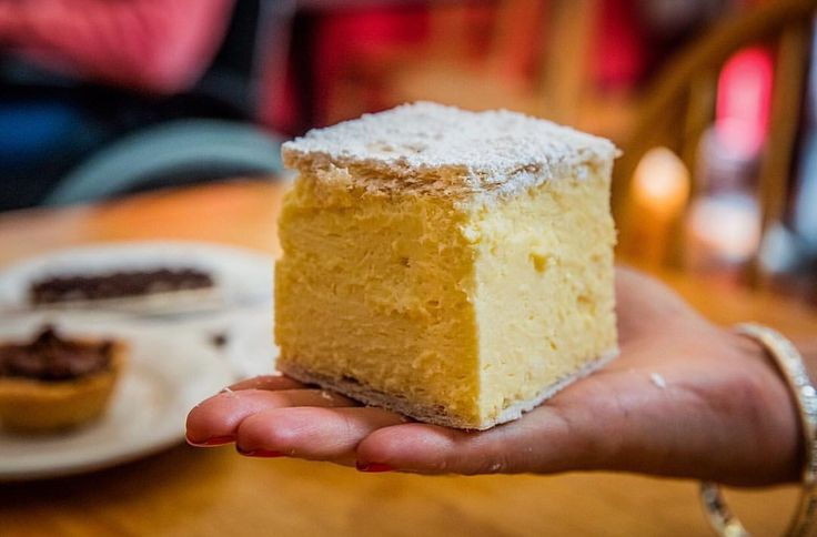 Who makes the best vanilla slice in the world? Ross Village Bakery in Tasmania comes close!  @tasmania #urbanspoon