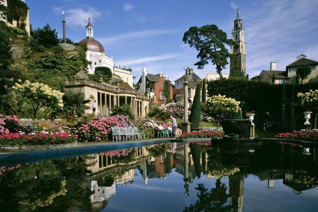 Portmeirion  - with a set piece from Arnos Vale, Bristol