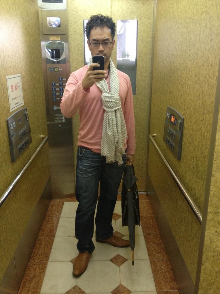 2012-10-17 Wed ピンクの長袖T。