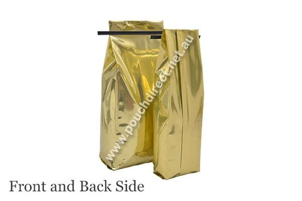 250G SHINY GOLD - SIDE GUSSET BAGS WITH TIN TIE