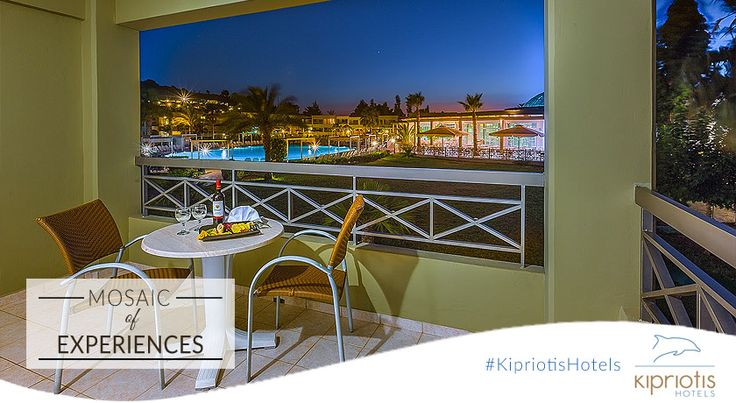 A light meal, a glass of wine and a cool evening breeze. Summer nights are pure bliss at #KipriotisMaris!  #KipriotisHotels #MosaicOfExperiences #Greece #Resort #Hotels #Vacation #Holidays  ‪