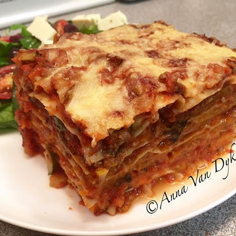 Beef & Roast Pumpkin Lasagne    You will need a batch of my low fat pasta sauce (see http://www.feedmehealthy.com.au/low-fat-bolognaise-sauce/) 4 Latina fresh lasagne sheets 1 medium butternut pumpkin cut into rounds, sprinkled with salt/pepper and roasted in the oven (do this in advance) 100gms Bega 50% reduced fat cheese grated....