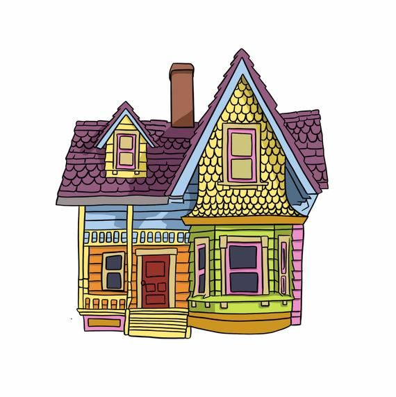 Colorful House Digital File Etsy In 2021 Up The Movie Up Pixar Disney Up House