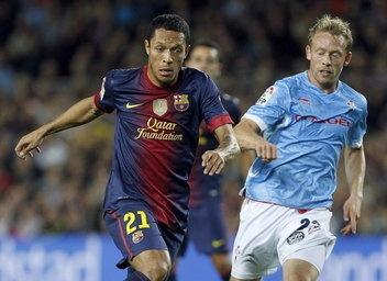 Adriano, FC Barcelona | Lesión de Adriano. > FC Barcelona 3-1 Celta. 03.11.12.