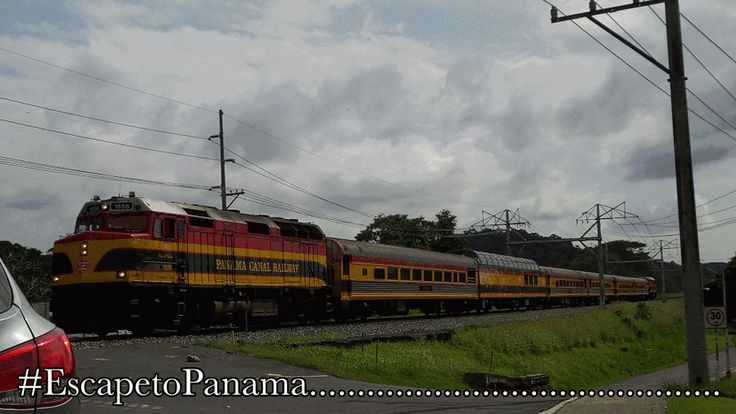 Disfrutando la vista del Ferrocarril en Pedro Miguel #Panama #CanaldePanama
