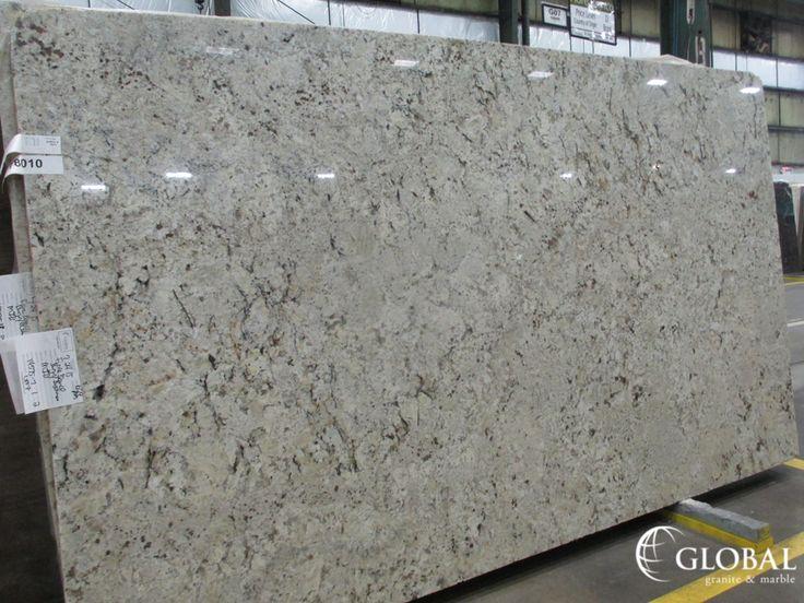 Fiore Bianco polished granite slab. Visit globalgranite.com for your natural stone needs.
