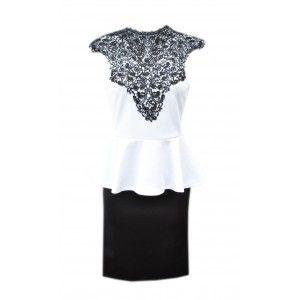 Peplum Dress with lace