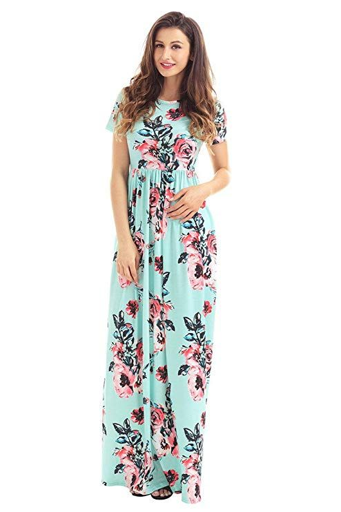 03bb2ba7eb HOTAPEI Floral Print Maxi Dresses | Wardrobe in 2019 | Floral maxi ...