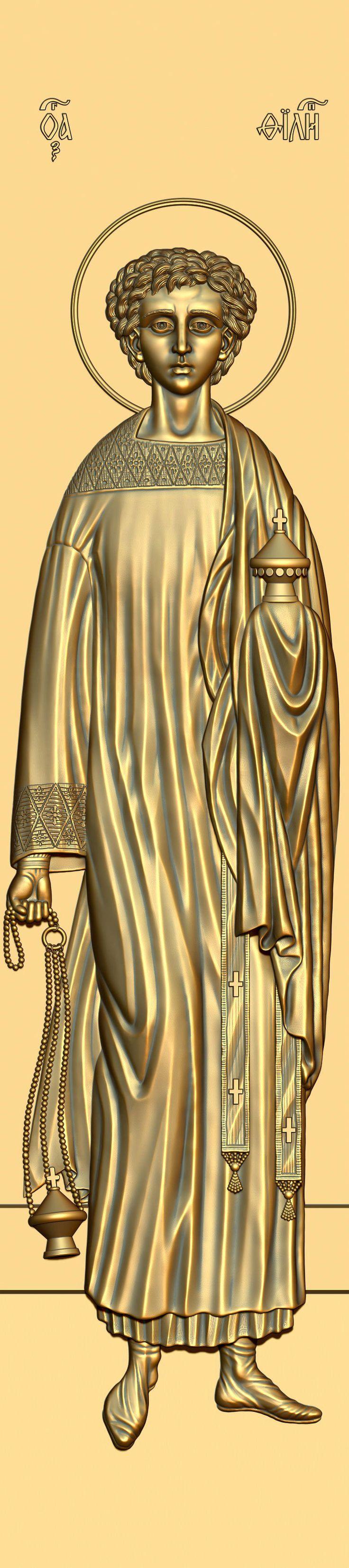 St. Philip the deacon of Caesarea. 3D model for CNC milling machine. Simulation programs: MoI, ArtCam, ZBrush. Private order.