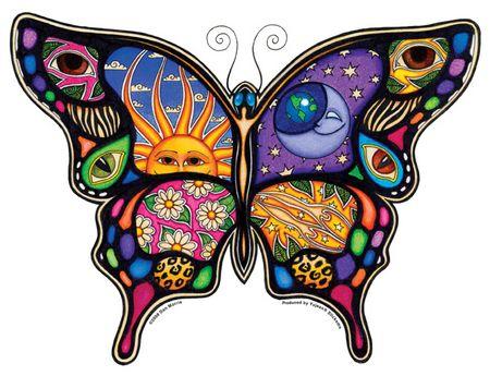 moon/sun butterfly sticker