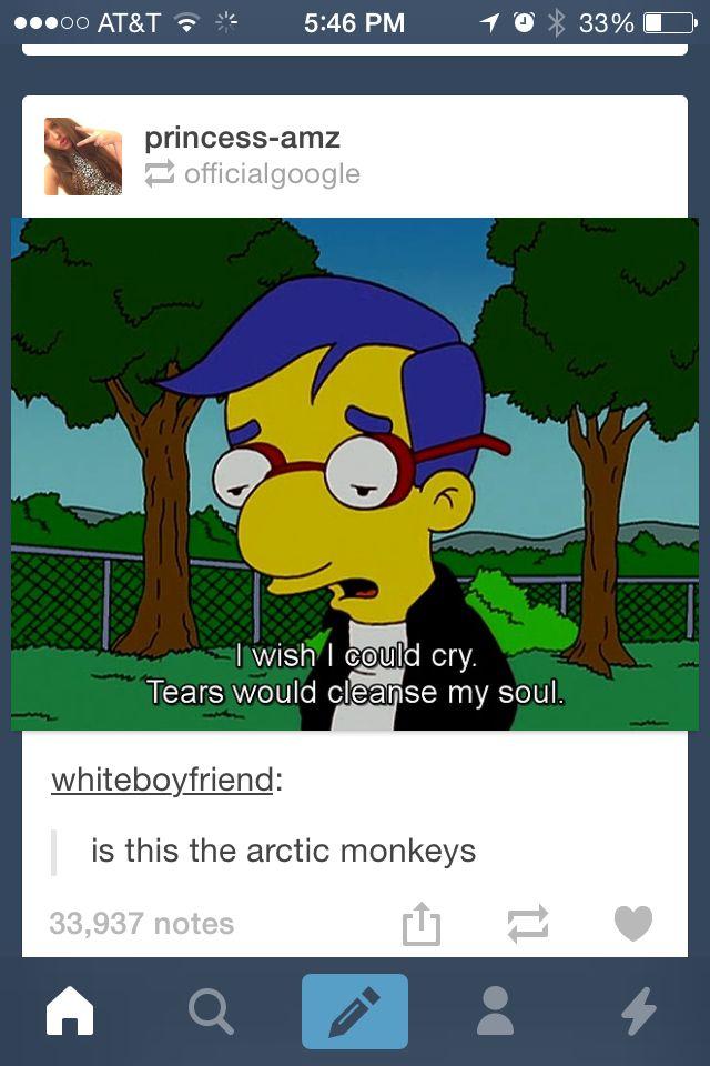 Gosh arctic monkeys get off the Simpsons.