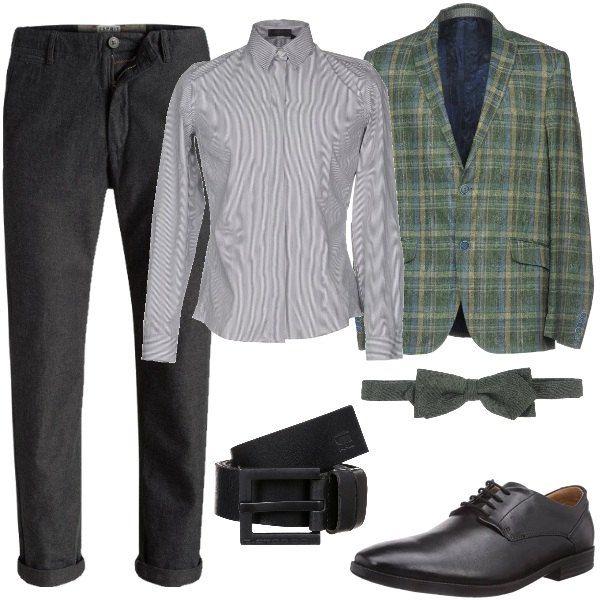 moda cinta con giacca a quadri uomo