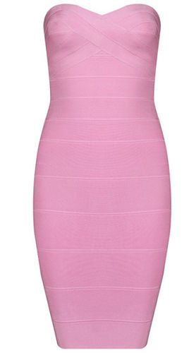 Cassy Mini Pink Bandage Dress