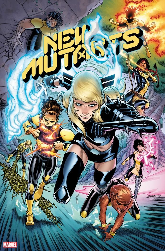 The New Generation Claims The Dawn The Classic New Mutants Sunspot Wolfsbane Mirage Karma Magik And Cypher Get Together With A Few Mutant Comics Marvel
