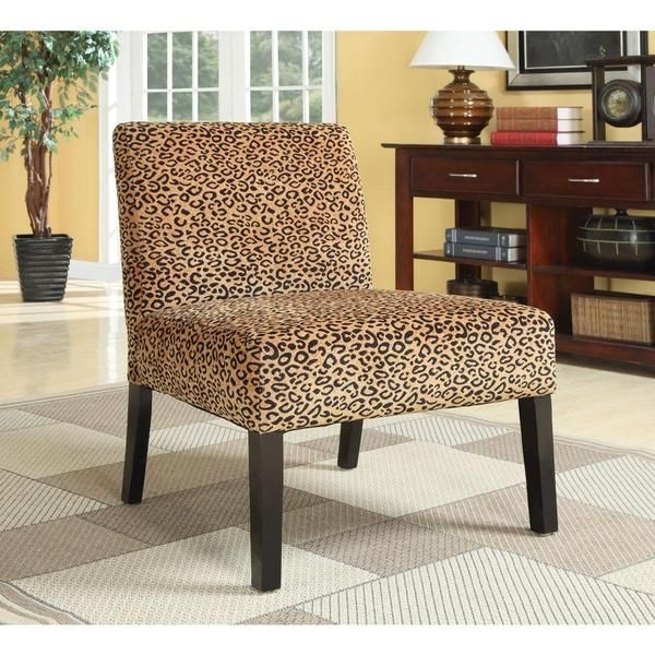 Plush Oversized Leopard Print Accent Chair (Leopard Plush Oversized Chair),  Brown (Cotton). Furniture ChairsLiving Room ... Part 52