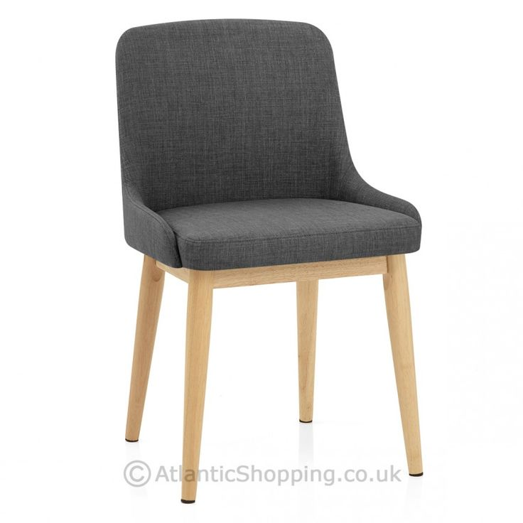 Jersey Dining Chair Oak Charcoal