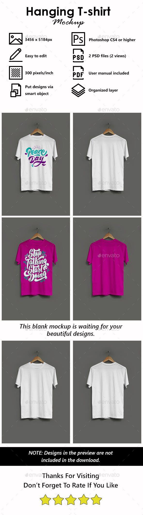 Hanging T Shirt Mockup Clothing Mockup Tshirt Mockup Shirt Mockup