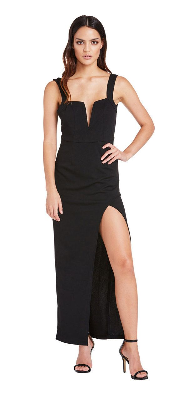New Flame Dress (Black) - Miss G