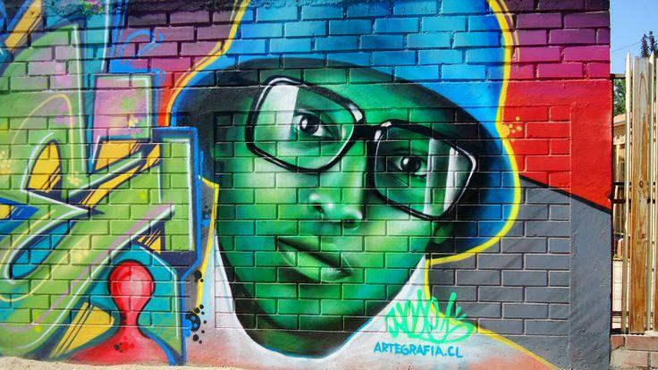 Graffiti en puente alto  #mural #graffiti #streetart #kode #alanzarate