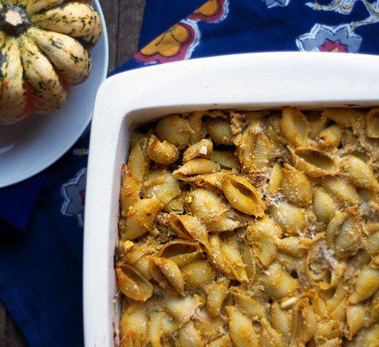 Quick Dinner Recipe:  Pumpkin & Ricotta Pasta Casserole