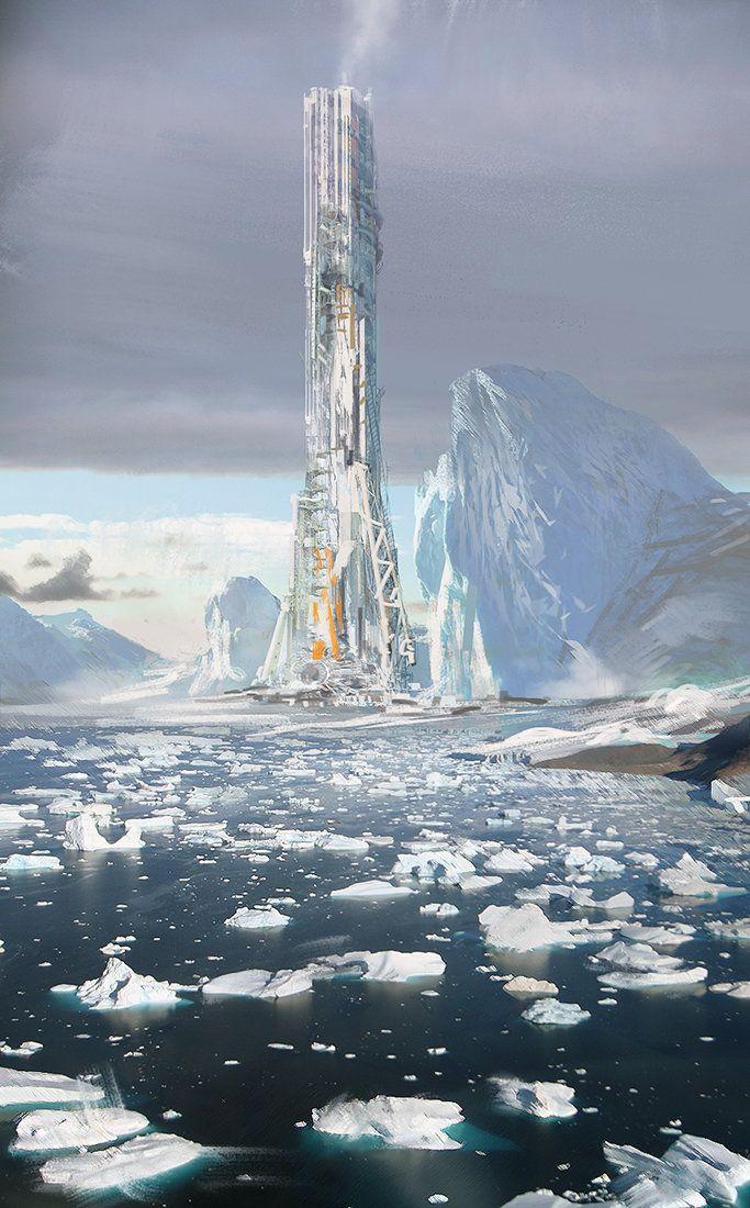 Cold Coast, Dmitry Vishnevsky Fantasy landscape, Sci fi
