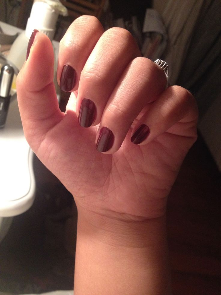 Nighttime nail sessions :) Deep plum nails