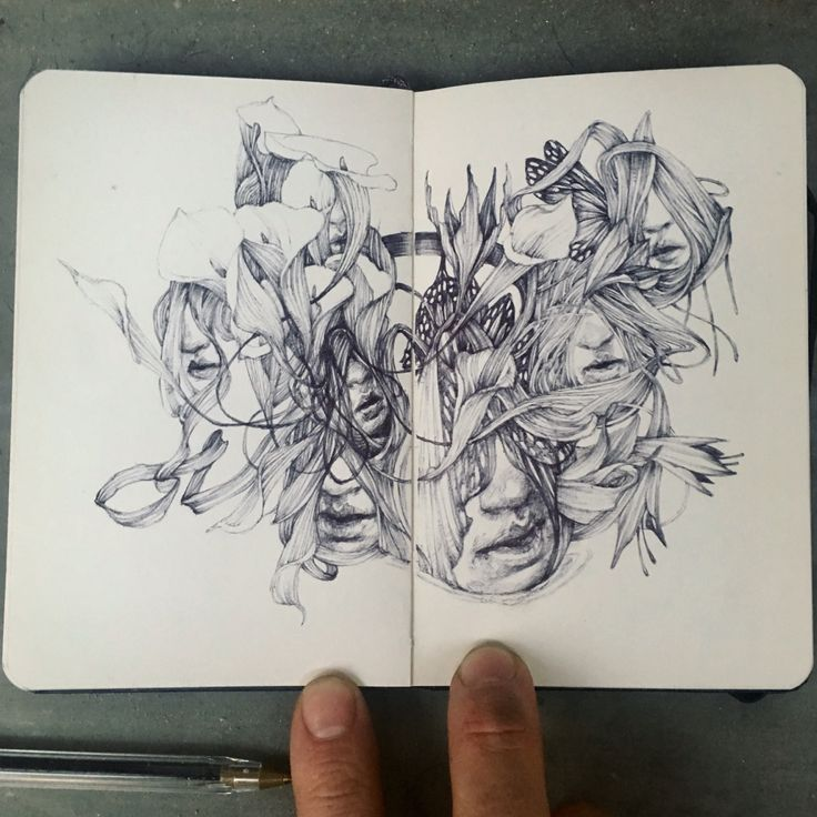 Doodling with a pen and a moleskine