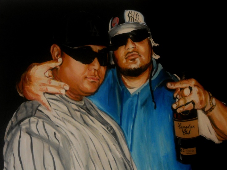 """brotha-hood"" - 2012  x  mixed media on board."