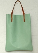 Image of Leather shopper - mint
