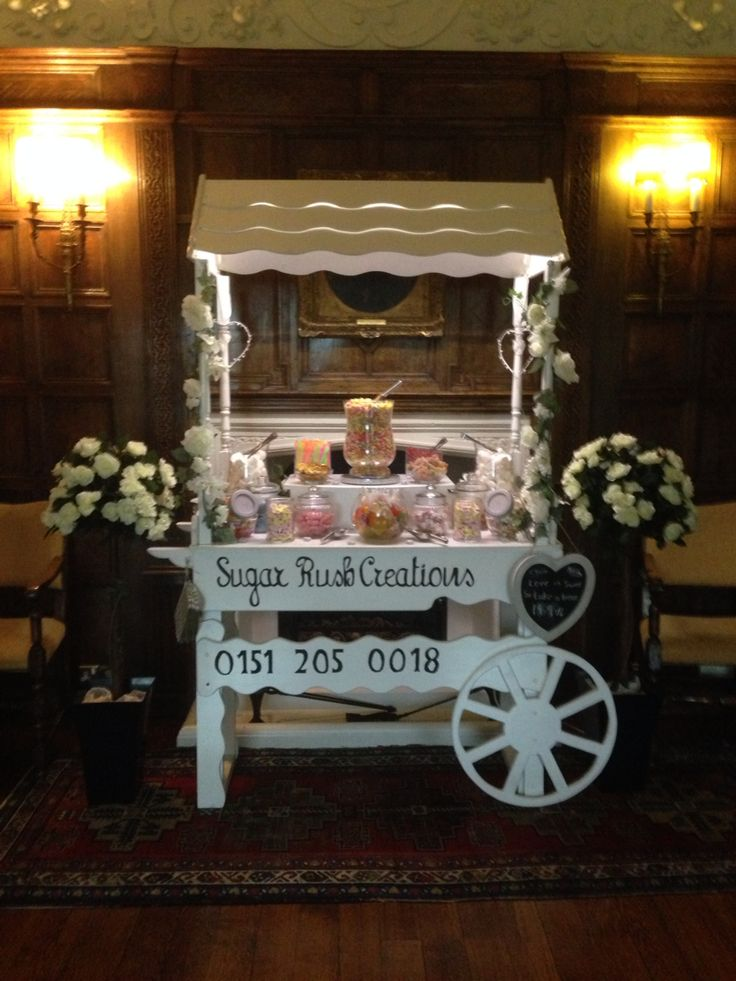 Wedding Candy Cart at Knowsley Hall