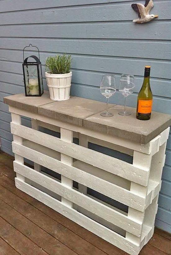 Perfect Un bar en palette de bois DIY ideas with pallets