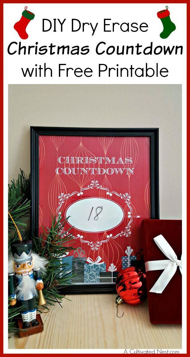 Календарь обратного отсчета до рождества своими руками
