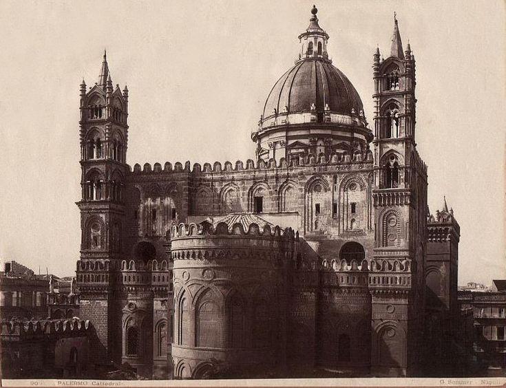 PALERMO - Tanto tempo fa - Page 14 - SkyscraperCity Giorgio Sommer, absidi della Cattedrale.