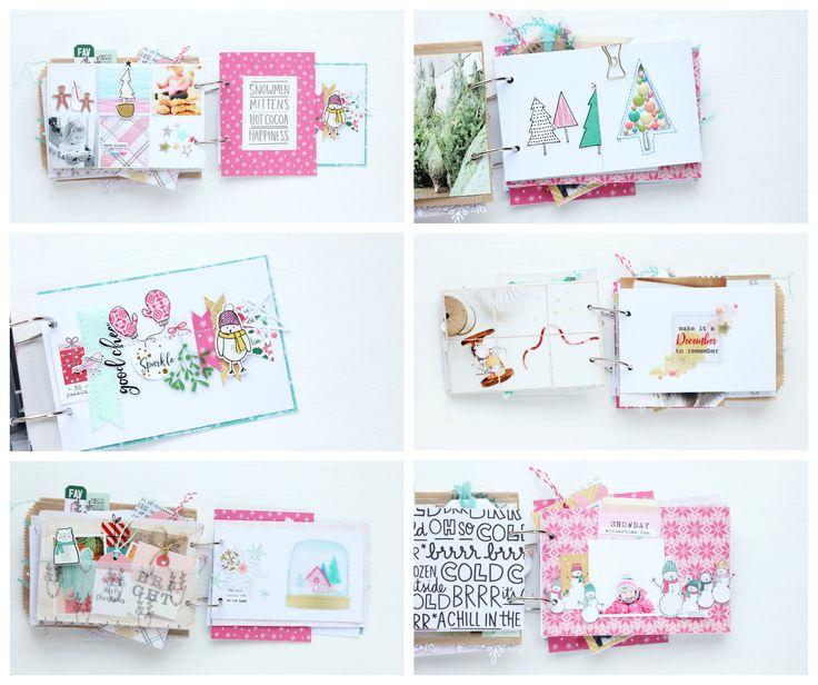 Christmas album Steffi Ried Citrus Twist Kits Crate Paper Snow and Cocoa Elles Studio Pinkfresh Studio
