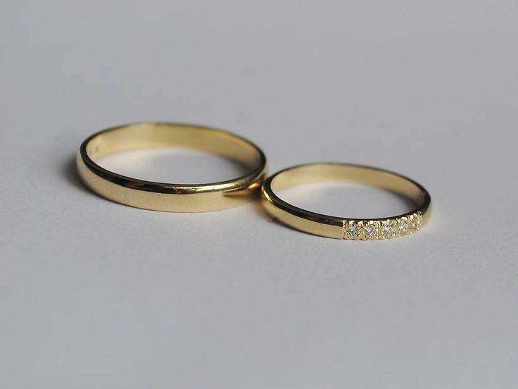 Prstene - Obrúčky s briliantmi - 6773569_
