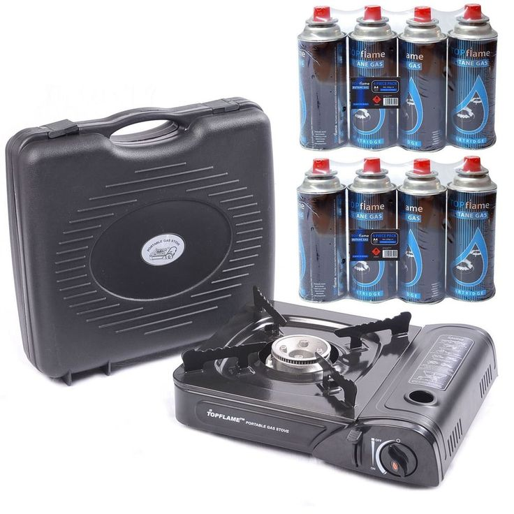 PORTABLE GAS COOKER STOVE + 2/4/8 BUTANE BOTTLES CAMPING in Sporting Goods, Camping & Hiking, Camping Cooking Supplies | eBay!