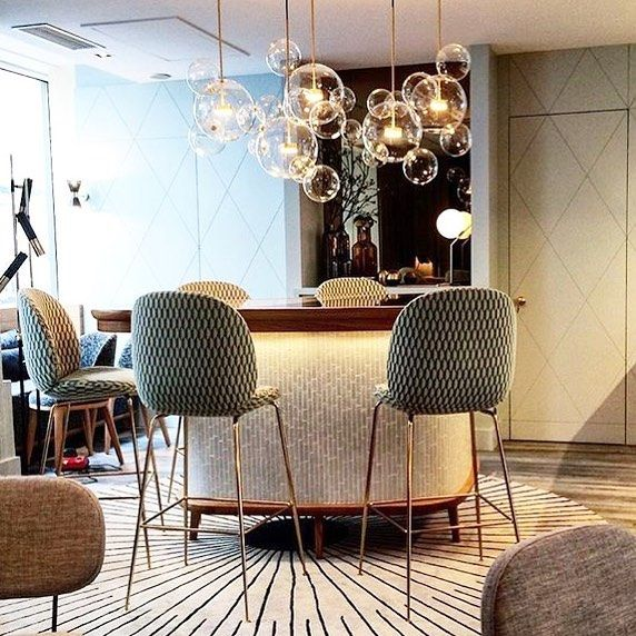 The Beetle Stools are surrounded by the magic atmosphere at the exclusive boutique hotel Millésmime in Paris. Photo cred to @anoukat #gubi #gubiofficial #gubistore #beetlestool #gamfratesi