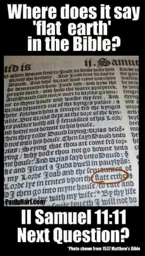 Flat earth in the Bible