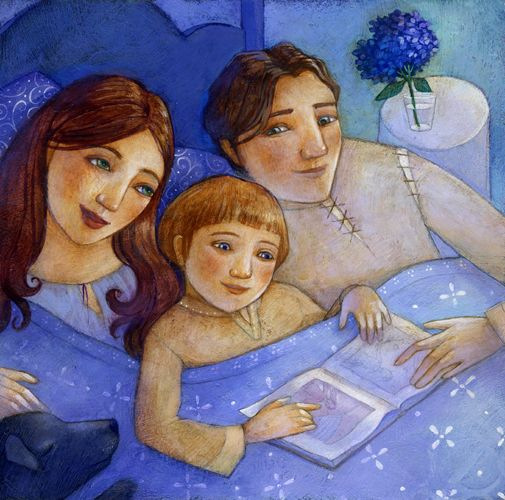 """Linda S. Wingerter illustration for """"What could be better than this?""""."""