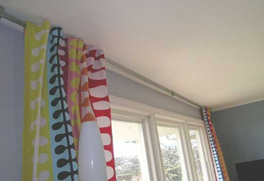 how to make an extra long curtain rod