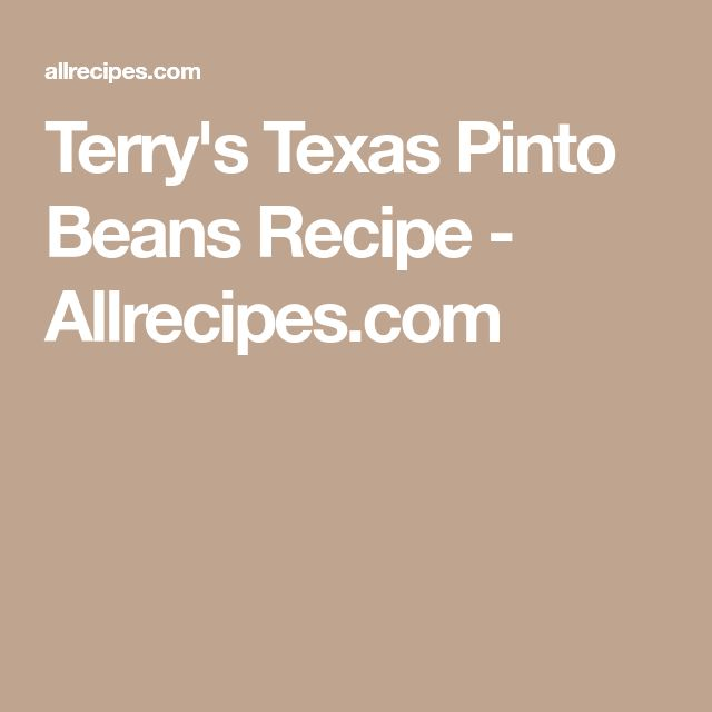 Terry's Texas Pinto Beans Recipe - Allrecipes.com