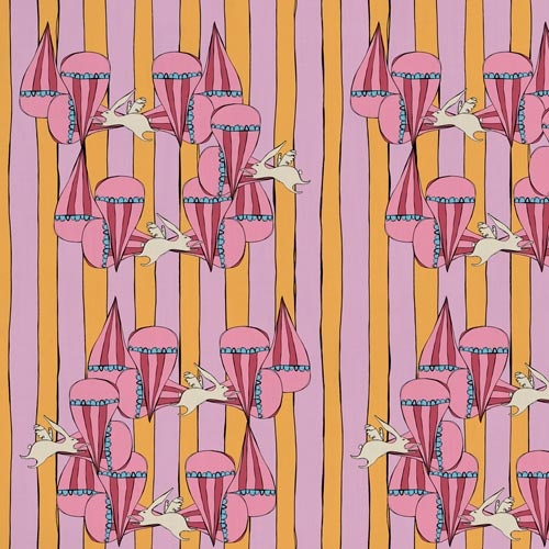 Funny Bunny from the Original fabric collection by Victoria Verbaan & the smoking daxi
