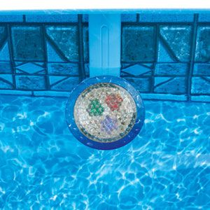 Light up your swimming pool with a NiteLighter pool light. This above ground pool light is easy to install and provides super bright light for night swimming and backyard ambiance!