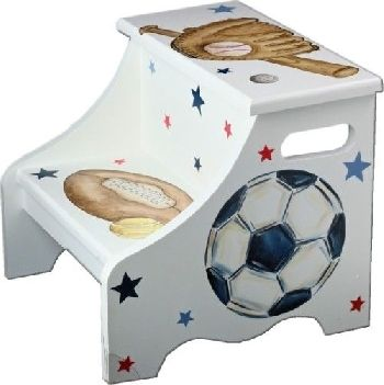 17 Best Images About Sports Decor For Kids Rooms On Pinterest Boys Step Stools And Ps