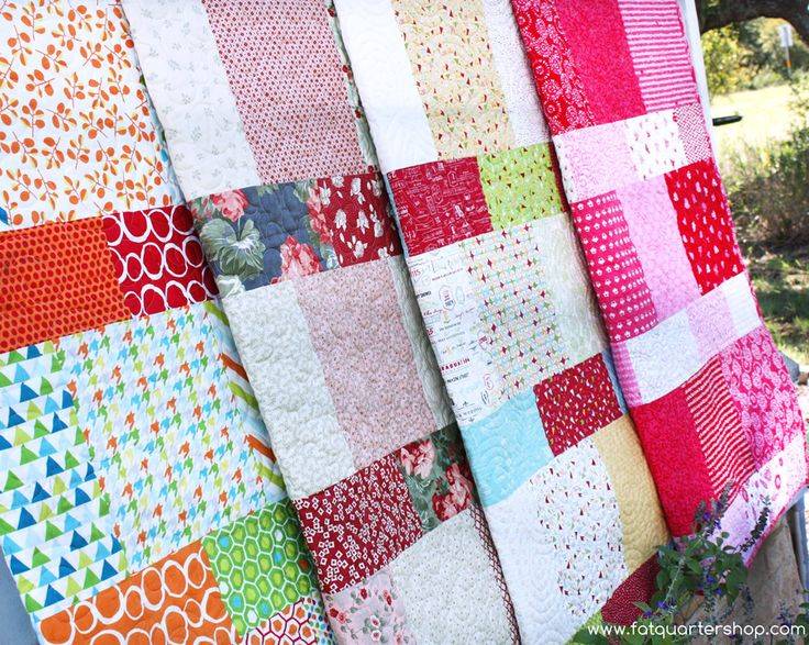 Layer Cake Lemonade Free Quilt Pattern - uses just one Layer Cake
