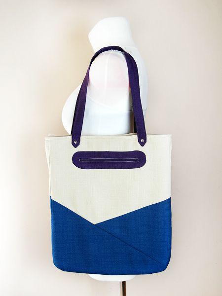 Jak uszyć dużą torbę z zamkiem, torba na zakupy, wykrój krawiecki na torbę, tutorial