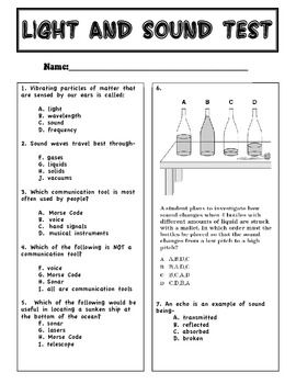 Printables Heat Light And Sound Worksheets For 4th Grade 1000 images about 4th grade light and sound on pinterest anchor test