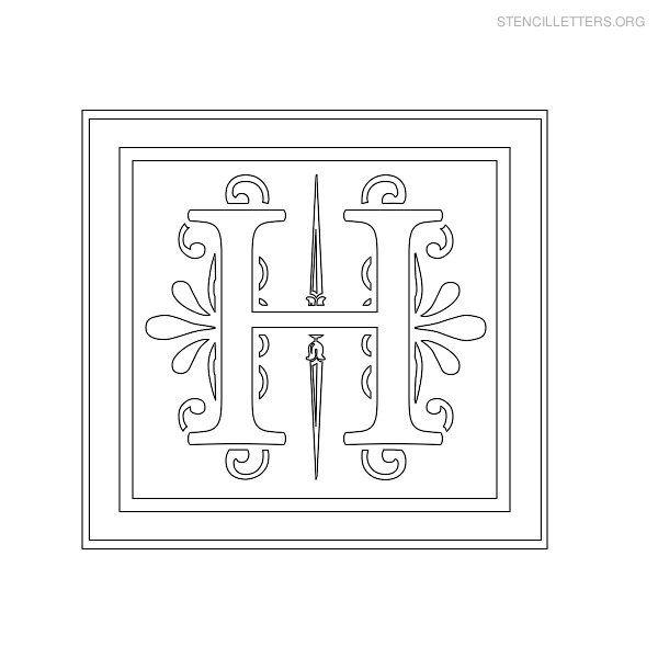 Best Alphabet  Decorative Stencil Images On   Free