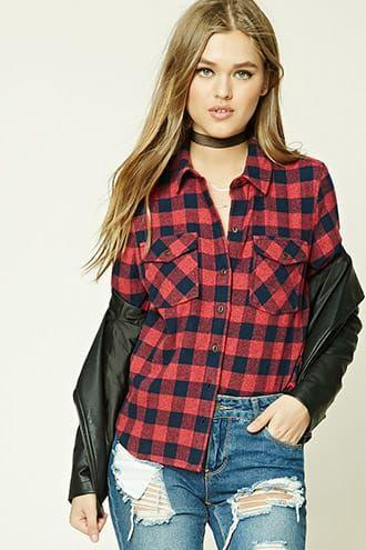 Fleece Plaid Shirt