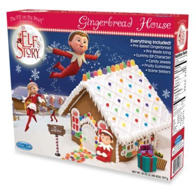 An Elf's Story® Elf on the Shelf Pre-Baked Gingerbread House Kit - Ella's going to be excited!